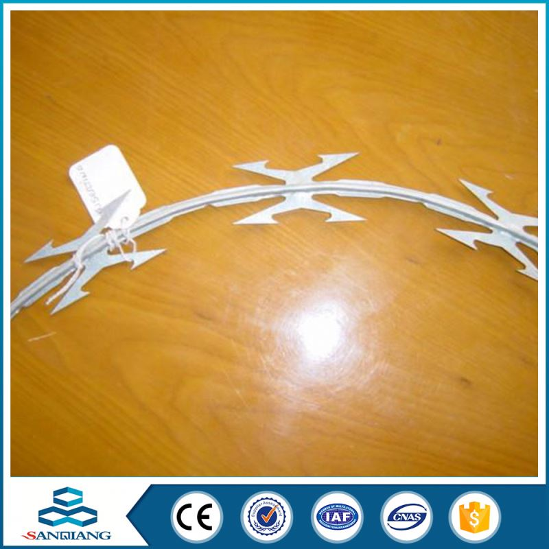 2016 Promotion!!! barbed razor wire for sale