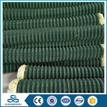 commercial decorative green field chain link fence