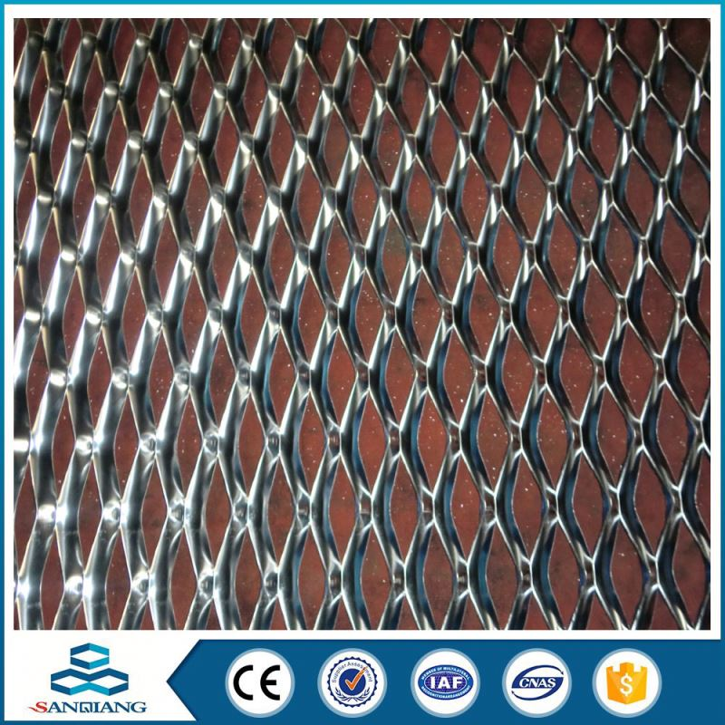 decorative anodize small hole aluminum expanded curtain metal mesh