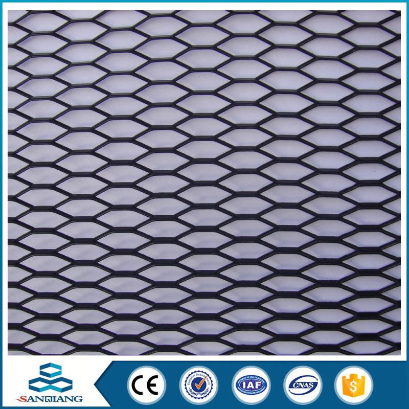 heavy duty black steel small hole furniture expanded metal mesh