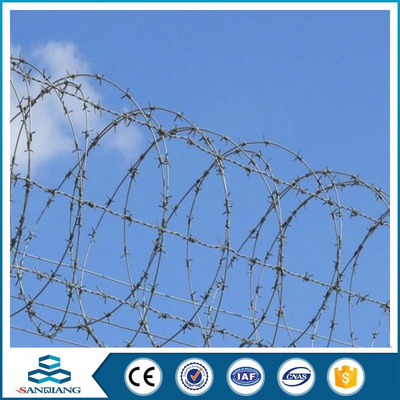 single iron razor barbed wire