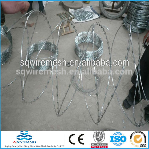 10*12 galvanized steel wire barbed wire fence(Anping)