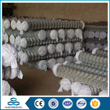hot galvanized powder coated temporary used chain link fence