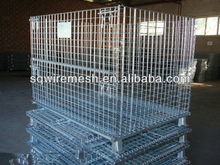 folding galvanized heavy duty wire mesh container