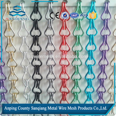Metal Chain Link Fly Screen Mesh Door Curtain