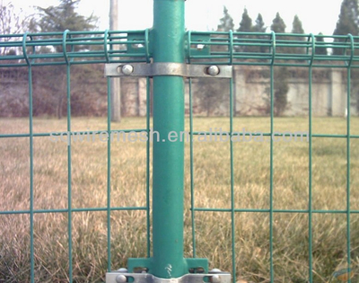 pvc coated wire fence double circle wire fence(factory manufacture)