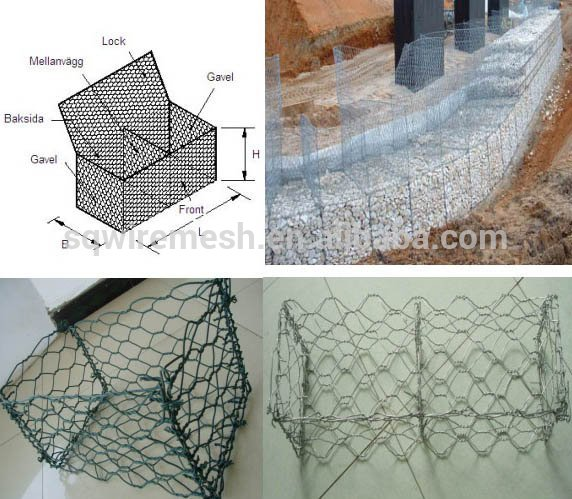 Anping County factory /pvc coated/ Gabion Box