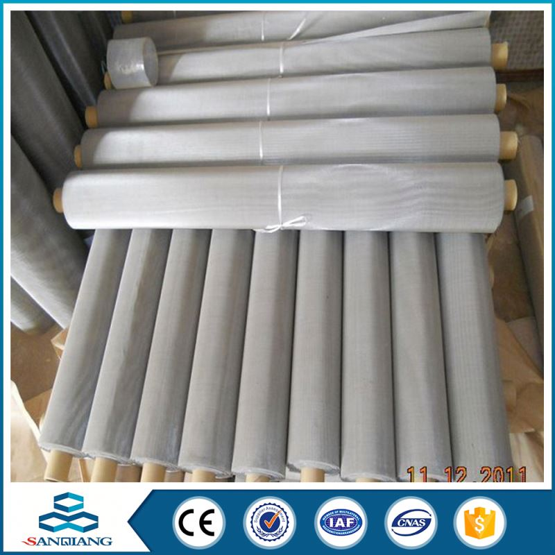 China Exporter First Class 100 micro mesh stainless steel screen fabric