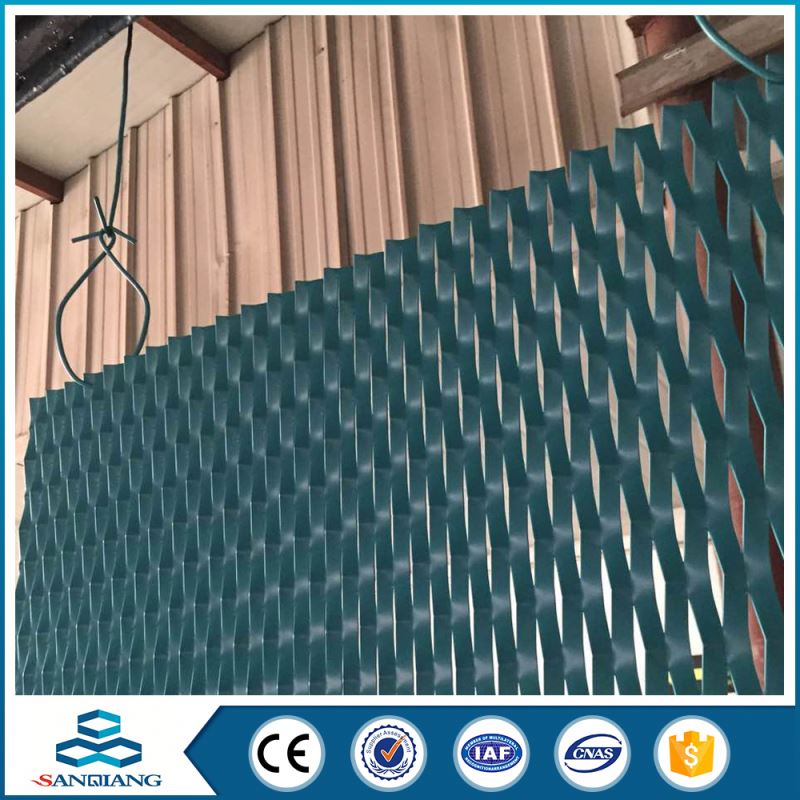 gold color aluminum expanded metal mesh small hole size