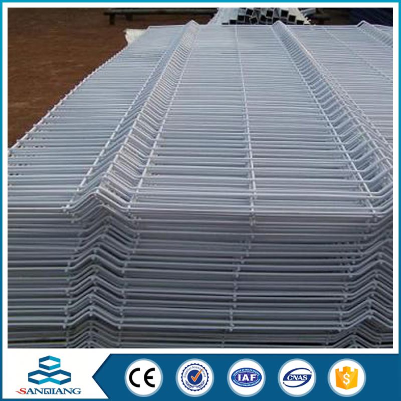 china manufacture 358 high security galvanized 3d bending fence panels price