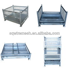 Heavy duty storage transport wire mesh container