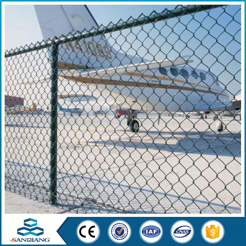 galvanized green used chain link fence prices for sale